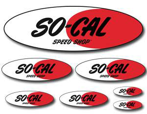 So-Cal Speed Shop Oval Logo Sticker Sheet