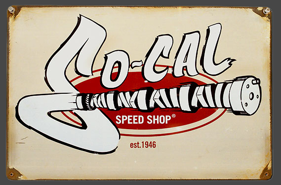 So-Cal Speed Shop Cam Tin Sign