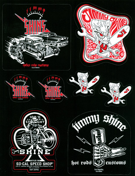 Jimmy Shine So-Cal Speed Shop Sticker Sheet