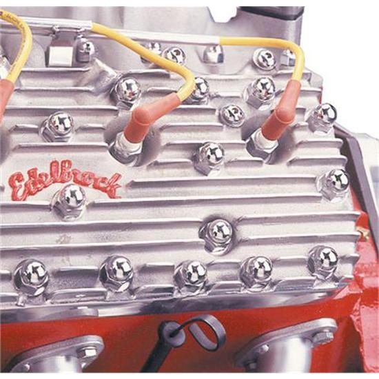 Flathead Chrome Cylinder Head Bolt Covers