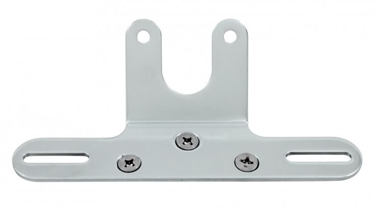 Motorcycle License Plate Taillight Bracket Chrome