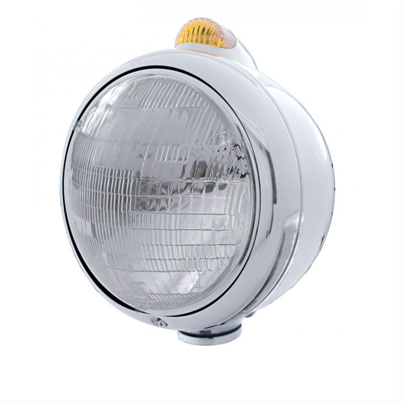 7in Guide Style Headlight with Turn Signal top Chrome Housing
