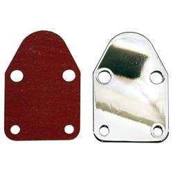 Small Block Chevy Fuel Pump Block Off Plate Chrome