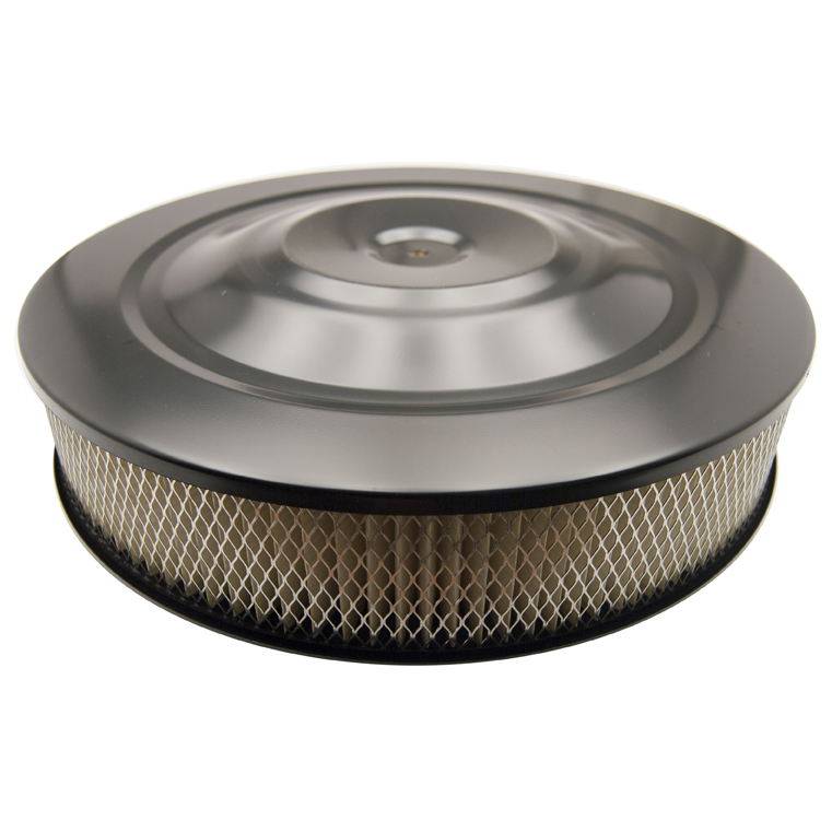 Black Finish Flat Base Air Cleaner