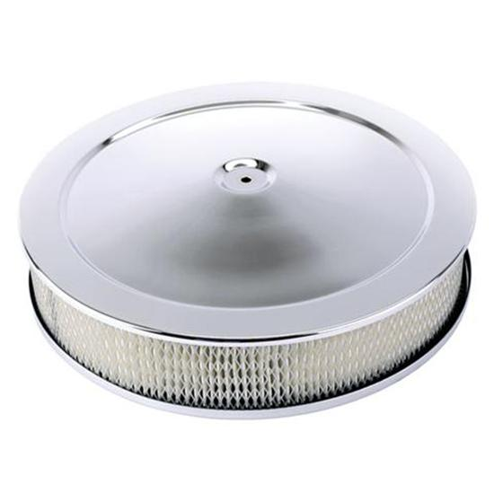 14in Chrome Air Cleaner Recessed Base