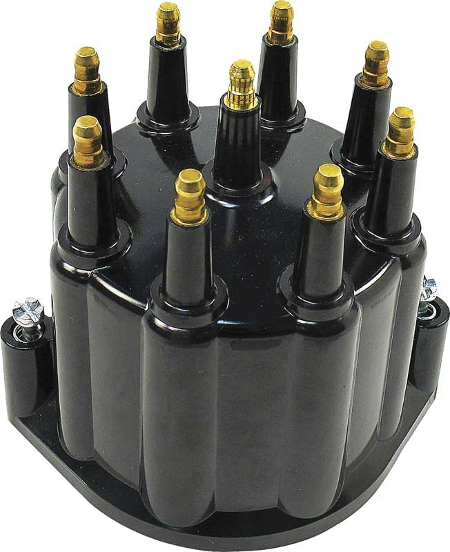 Black Ready to Run Distributor Cap
