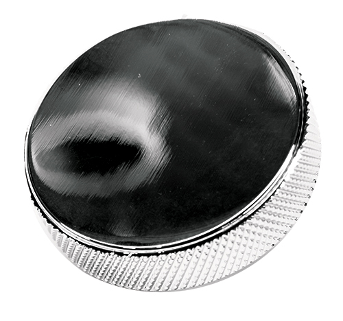 Chrome Knurled Round Radiator Cap