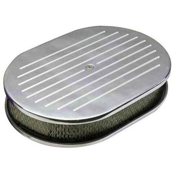 Ball Milled Oval Air Cleaner 12in