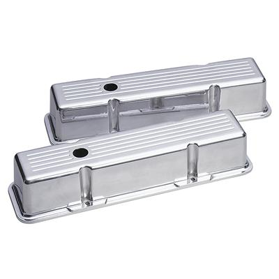 Ball Milled Polished Valve Cover Small Block Chevy Tall