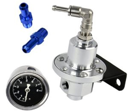 Aluminum Fuel Pressure Regulator with Gauge