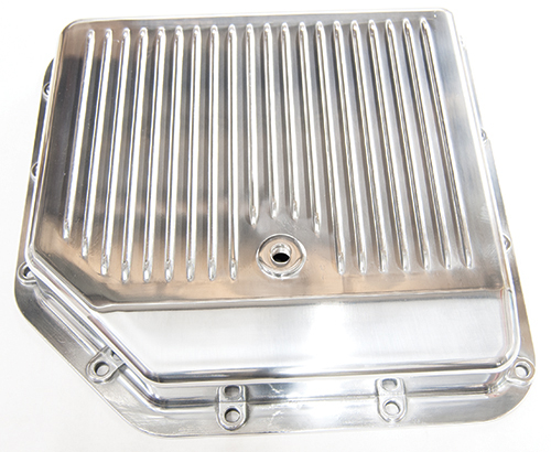 Polished Aluminum Trans Pan GM Turbo 350