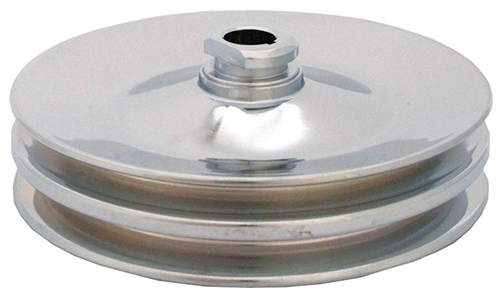 Chrome Double Groove Power Steering Pump Pulley Saginaw Style