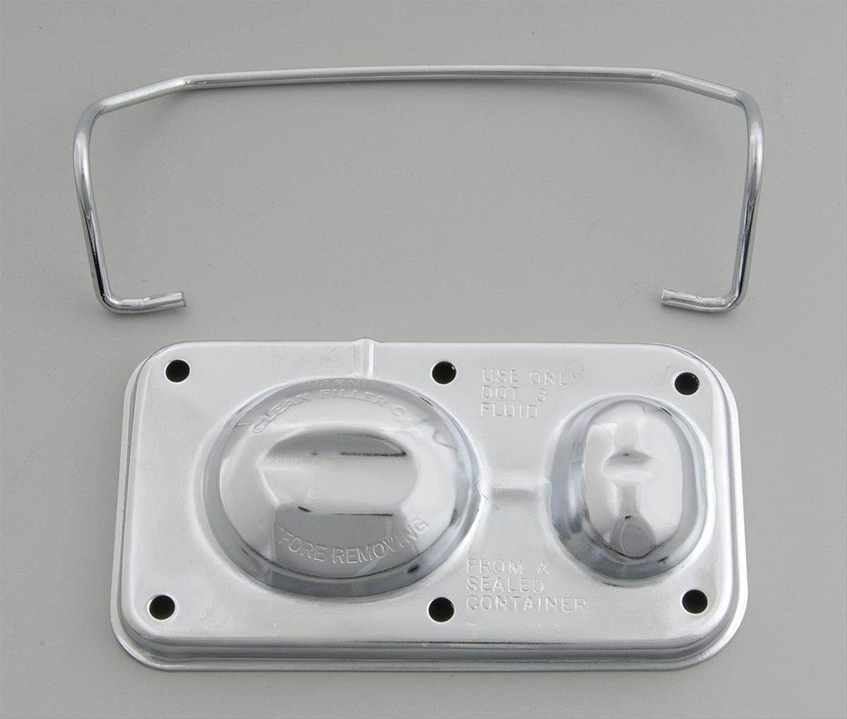 Chrome Master Cylinder Cover GM Disc and Drum Style - Click Image to Close