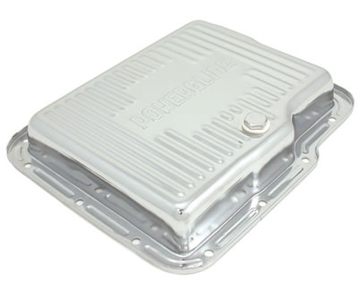 Powerglide Transmission Pan Chrome Steel