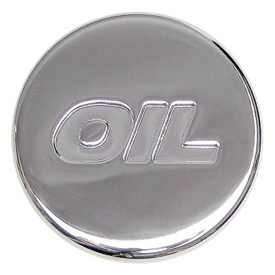 Chrome Oil Plug with logo