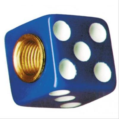 Blue Dice Valve Stem Caps