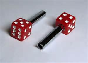 Red Dice Door Lock Knobs