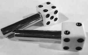White Dice Door Lock Knobs