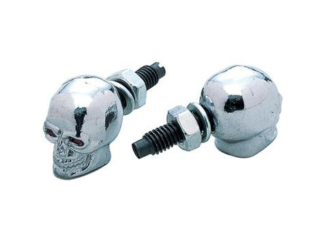 Chrome Skull License Plate Bolts