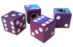 Purple Dice Valve Stem Caps