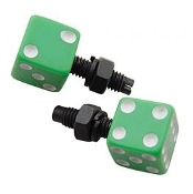 Green Dice License Plate Bolts