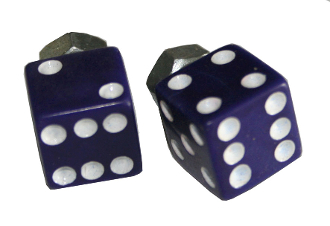 Purple Dice License Plate Bolts