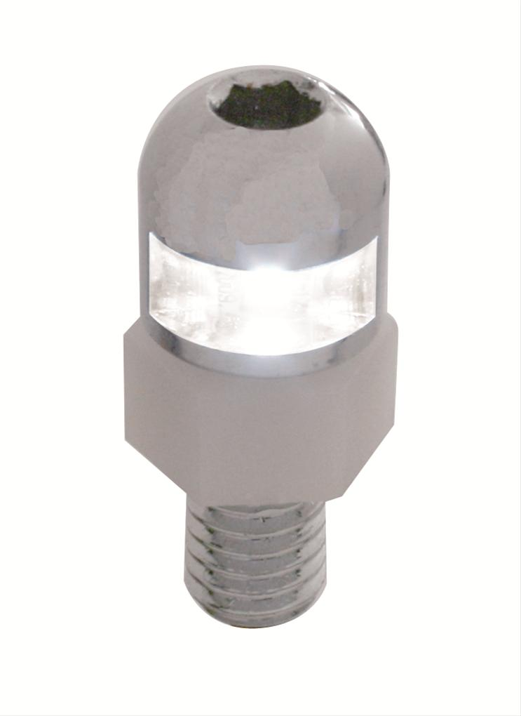 License Plate Fastener with White LED