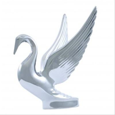 Chrome Bugler Swan Hood Ornament