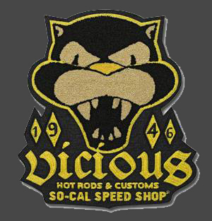 So-Cal Speed Shop Large Vicious Felt Patch
