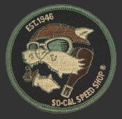 So-Cal Speed Shop Vicious Aviator Round Patch