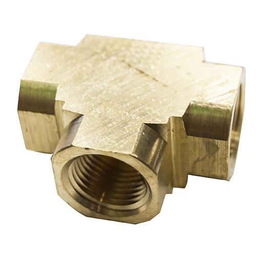 "1/4"" FPT Brass Tee Fitting"