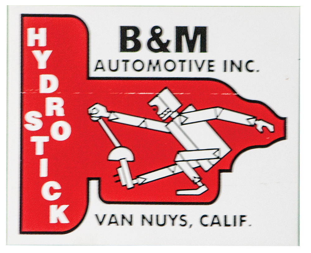 B & M Transmission Decal Nostalgic