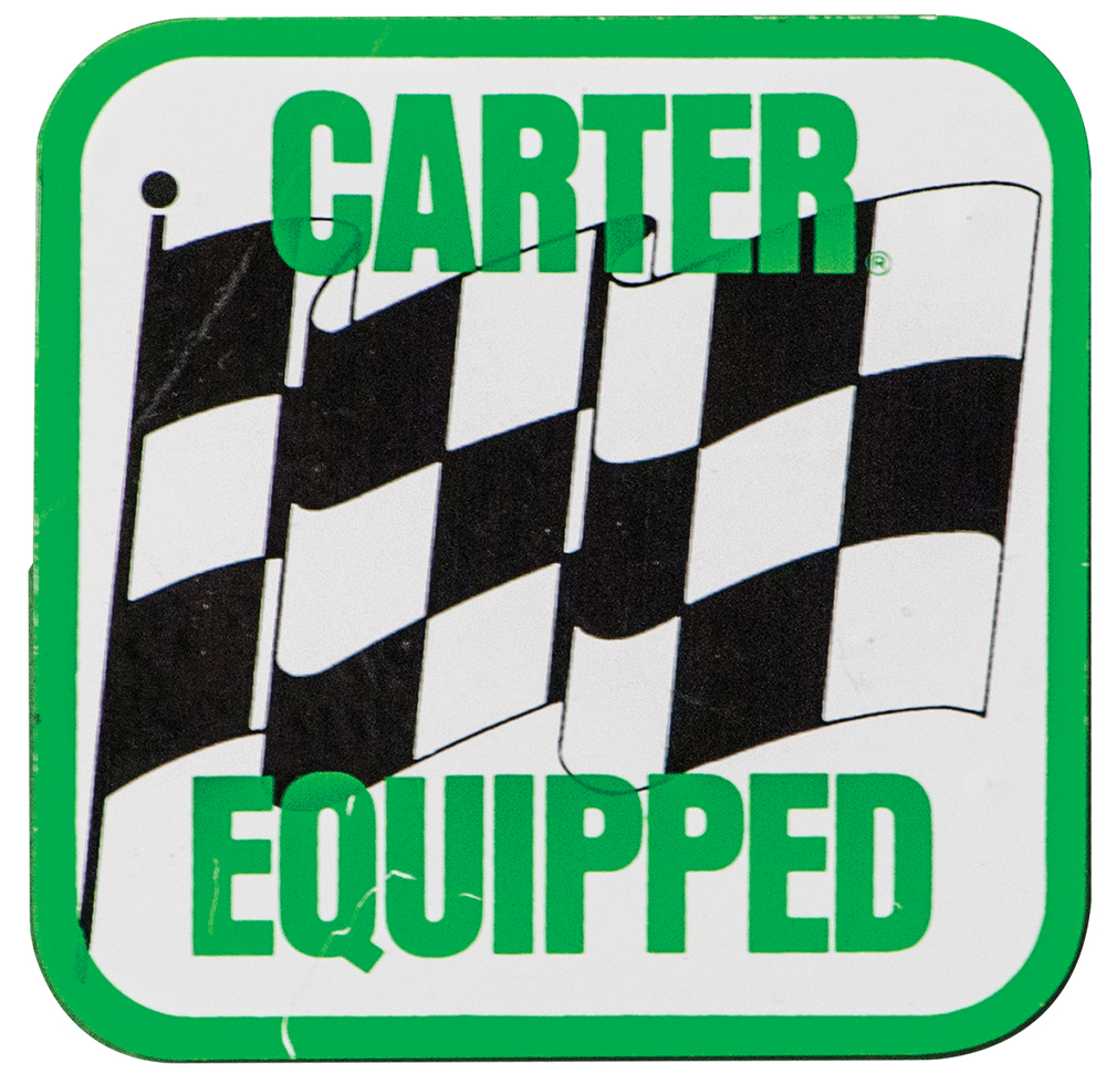 Carter Equipped Decal Sticker