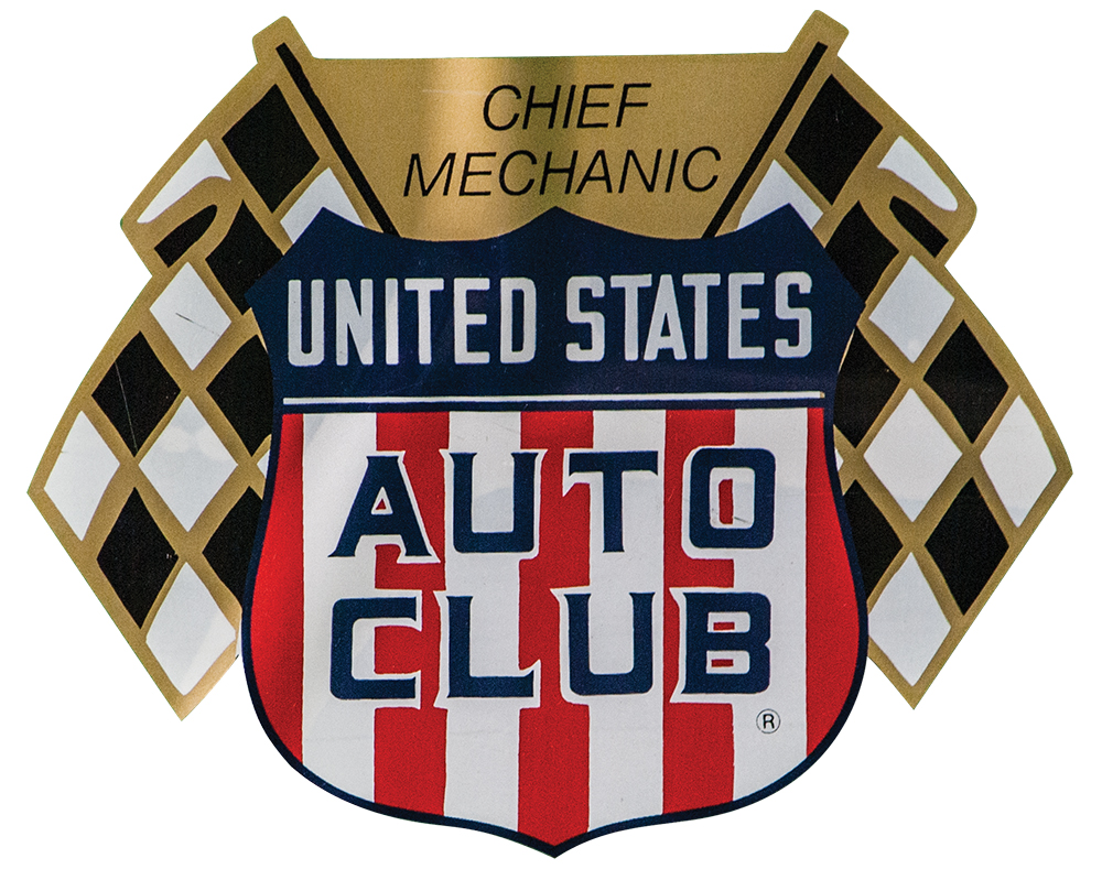US Auto Club Chief Mechanic Decal Sticker