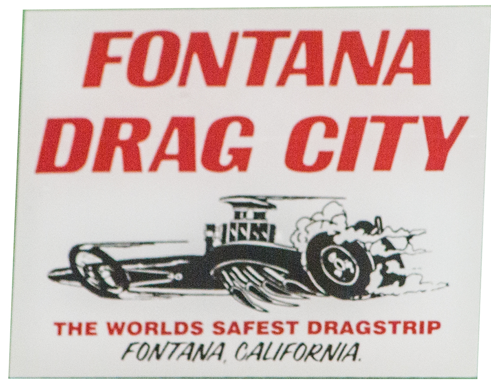 Fontana Dragstrip Window Decal
