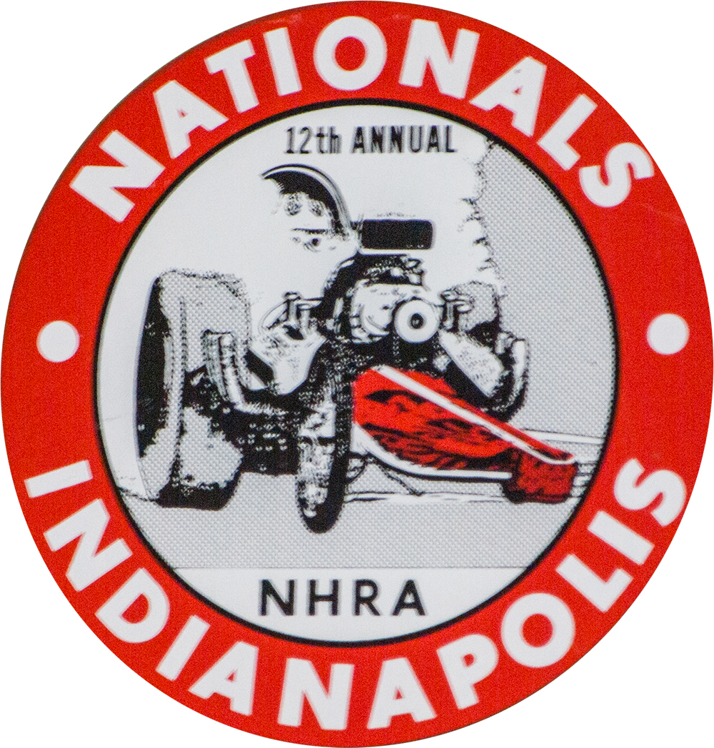 12th Annual NHRA Nationals 1966 Indy Decal