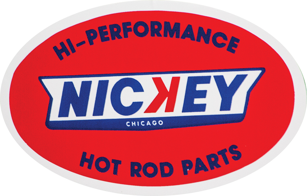 Nickey Hotrod Parts Decal