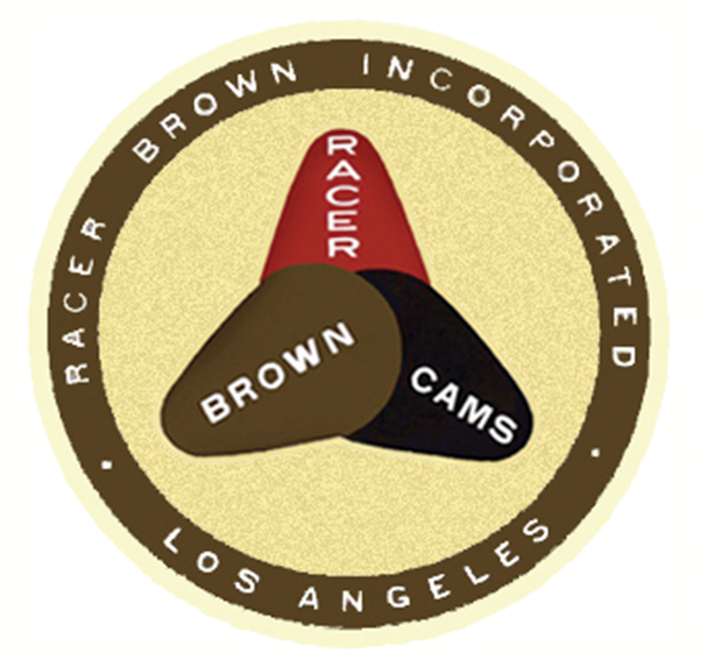 Racer Brown Cams Window Decal