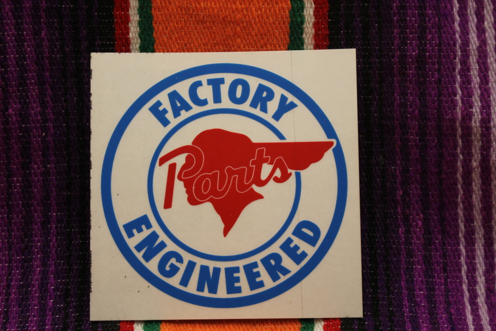 Pontiac Factory Engineered Parts Decal Round