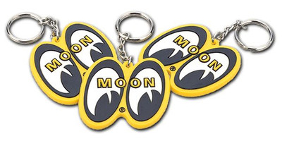 Mooneyes Rubber Key Chain Yellow