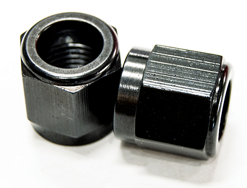 AN 10 Tube Nut Black Pk 2