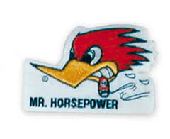 Mr Horsepower White Logo Patch
