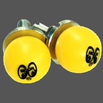 Moon Yellow Ball License Plate Bolts
