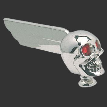 Chrome Skull Hood Ornament