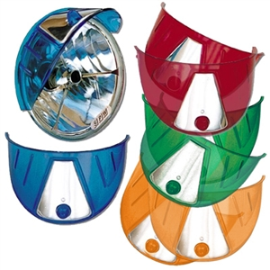Blue Plastic Headlight Visor