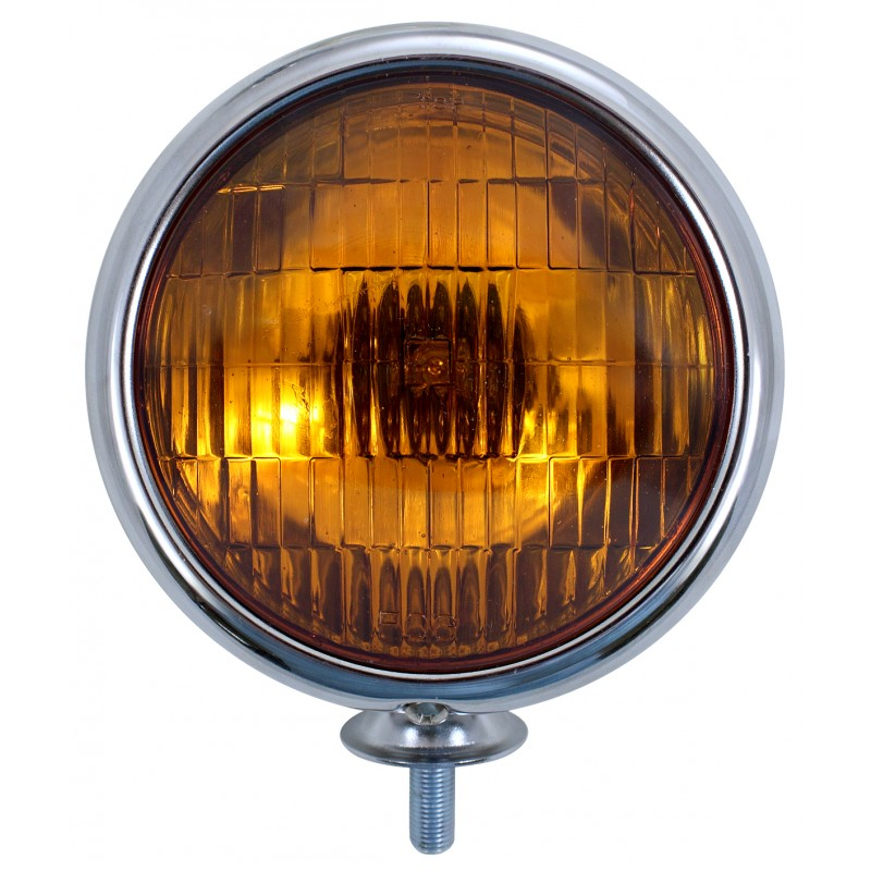 Vintage Fog Light Chrome housing with Amber bulb