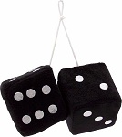 Black Fuzzy Dice