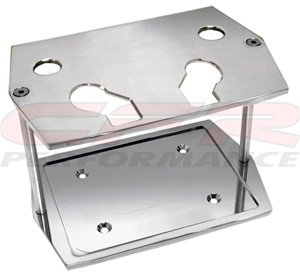 Optima Battery Tray Polished Aluminum
