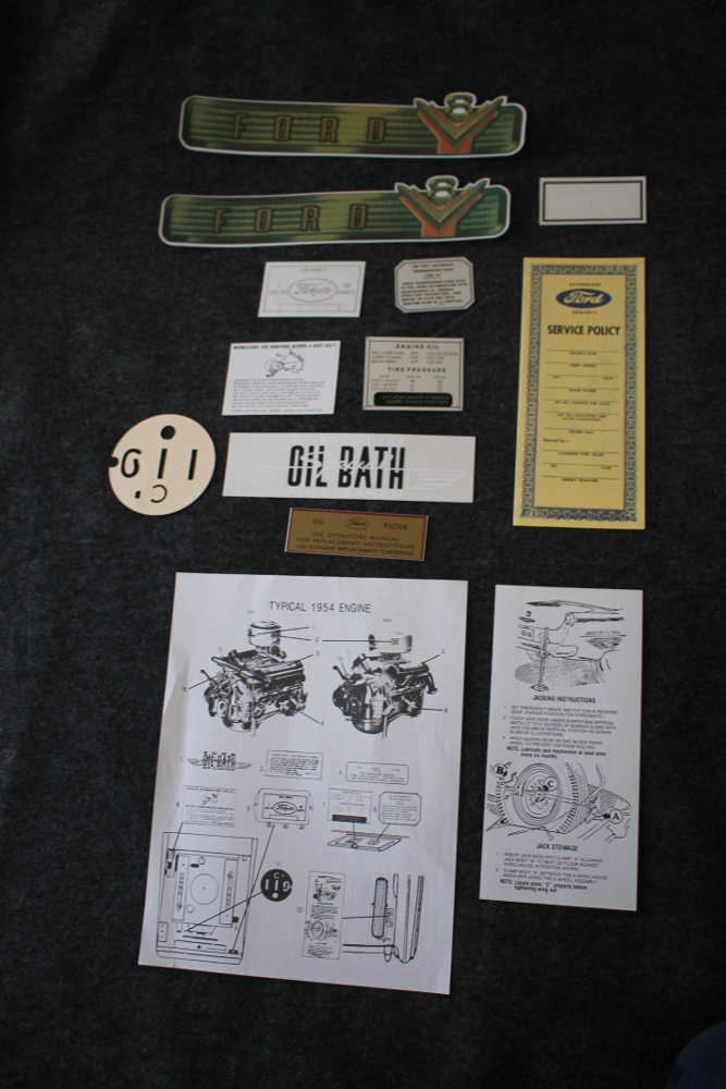 1954 Ford Decal Kit Passenger Car