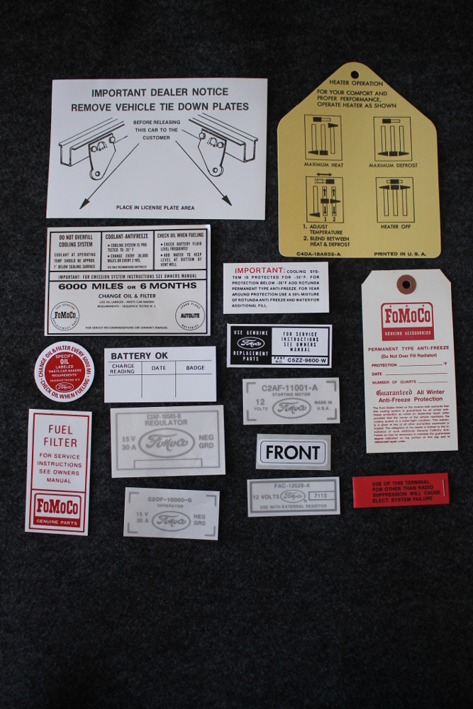 1964.5 Mustang Decal Kit Restoration